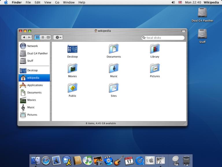 Mac OS X 10.3 768x576