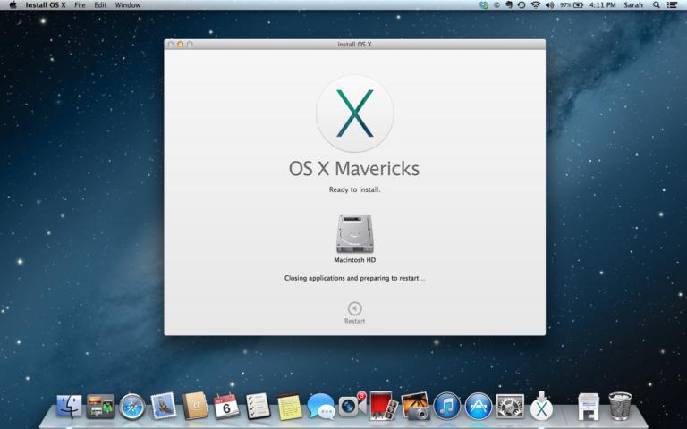 Mac OS X 10.9 768x480