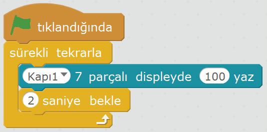 7 segment ekran kullanım örneği