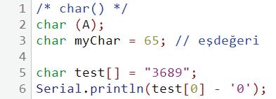 char kullanım örneği 1