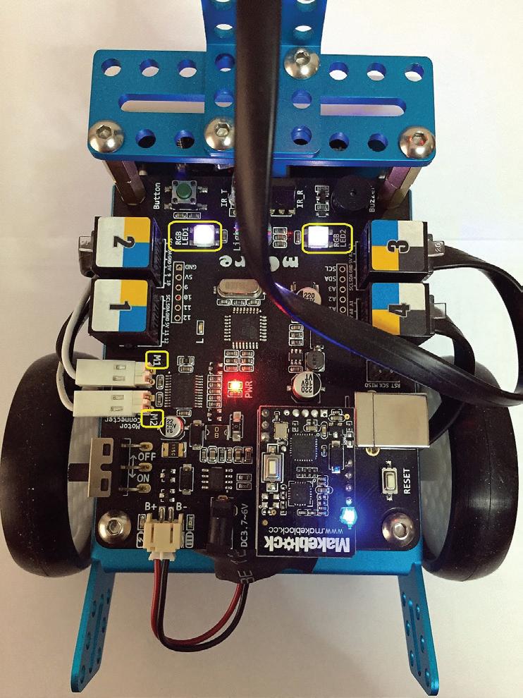 mBot üzerindeki RGB ledler