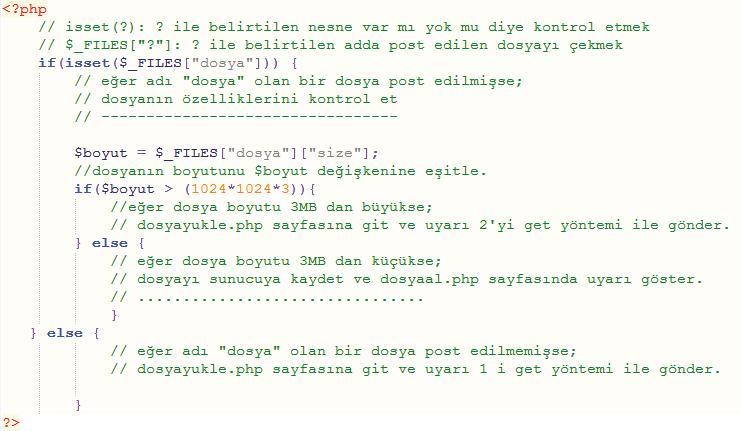 PHP Kodları dosyaal.php5