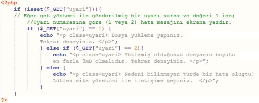 PHP Kodları dosyayukle.php