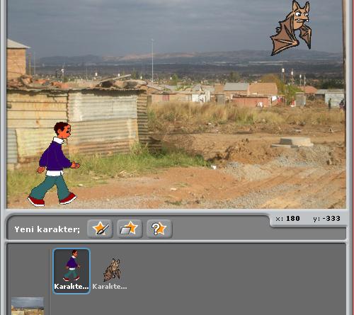 Scratch Uygulaması: Yürüyen adam