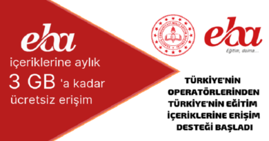 EBA 3GB Ücretsiz İnternet 390x205